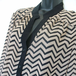 Dress Barn Tops - Dressbarn Tunic Size XL, Brown and Tan Striped.